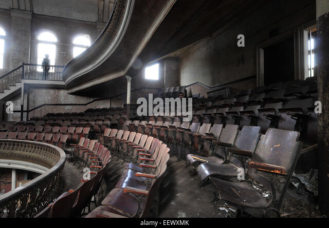 Derby CT USA-- Some allege that the Sterling Opera House in Derby is haunted by ghosts. Many claim that the seat - Stock Image