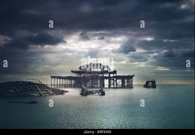 old Brighton Pier,UK - Stock-Bilder