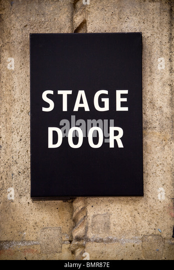 Stage door sign london stock photos stage door sign for Door 9 royal albert hall