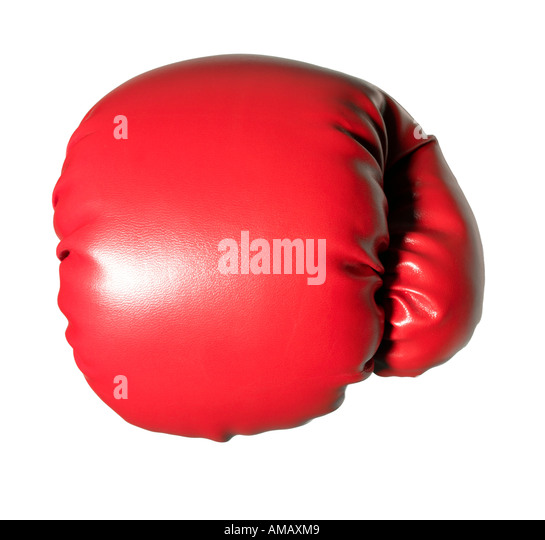 Boxing Glove insulated  glove hand protection finger thumb - Stock Image
