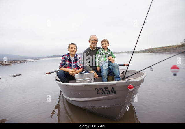 Fishing reservoir stock photos fishing reservoir stock for Two man fishing boat
