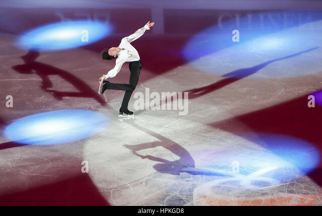 Gangneung, east of Seoul, South Korea. 19th Feb, 2017. Sihyeong Lee (KOR) Figure Skating : ISU Four Continents Figure - Stock-Bilder