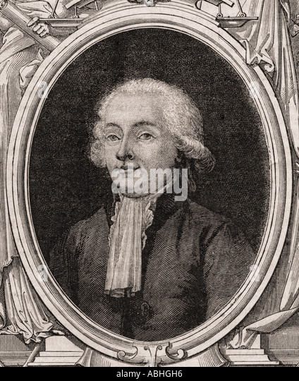 Isaac René Guy le Chapelier 1754 1794 French politician - Stock Image