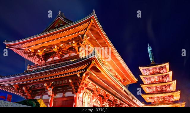 Gate at Senso-ji Temple in Asakusa, Tokyo, Japan. - Stock-Bilder