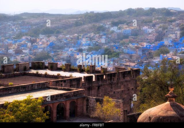 Mehrangarh Fort, Jodhpur, Rajasthan, India, Asia - Stock-Bilder