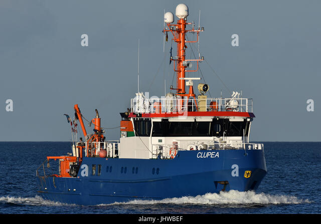 Fishing Support Vessel Clupea - Stock Image