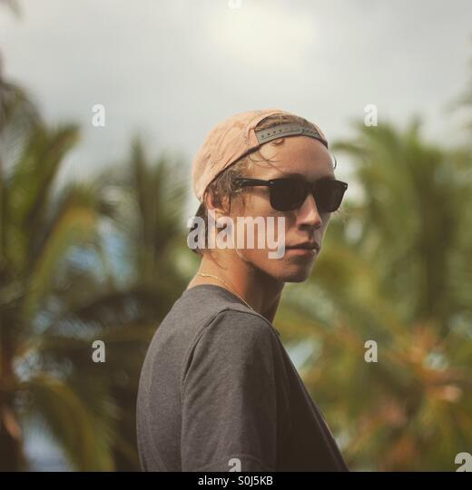 Shot of myself at Luahiniwai-Kiholo Lagoon, Hawaii - Stock Image