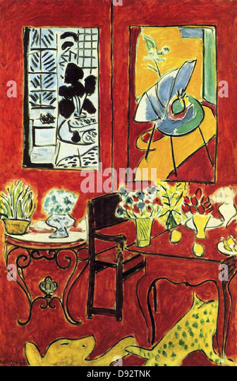 Henri matisse paris stock photos henri matisse paris for Interieur rouge matisse