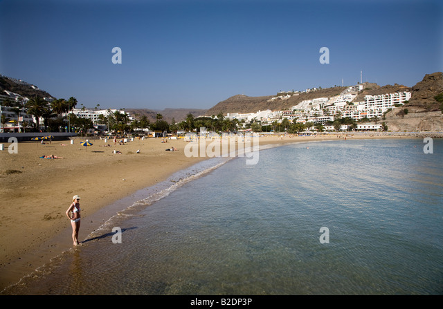 Puerto rico beach on gran stock photos puerto rico beach - Standing canarias ...
