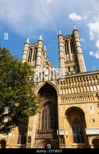 Lincoln Cathedral, Lincoln, Lincolnshire - Stock Image