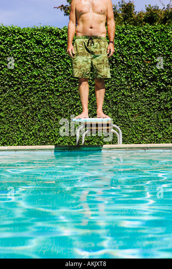 Standing On Diving Board Stock Photos Standing On Diving Board Stock Images Alamy