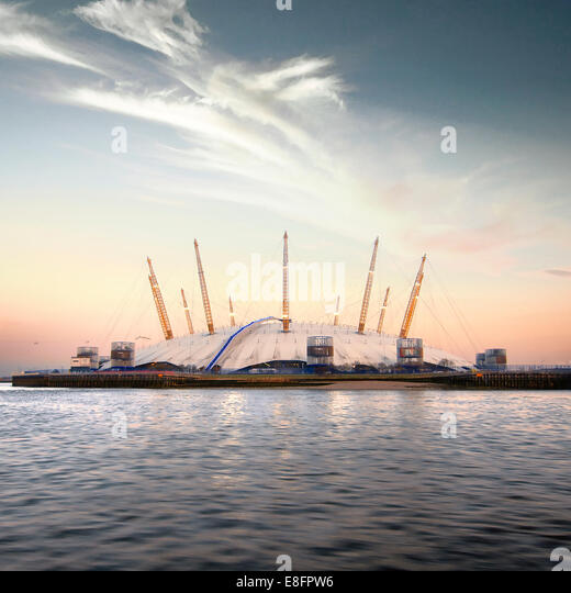 United Kingdom, London, View of O2 Arena - Stock Image