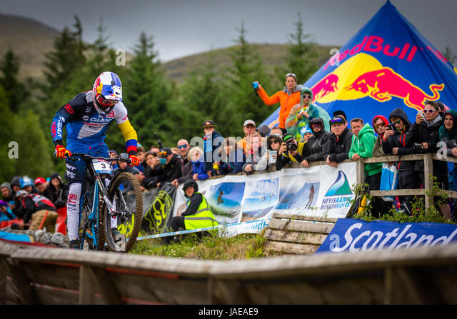Uci Mountain Bike Downhill World Cup 2017 Stock Photos ...