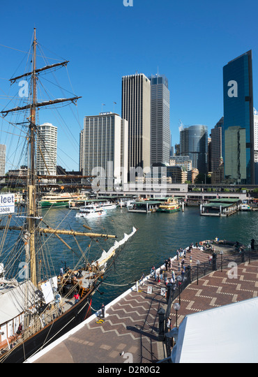 Circular Quay and Business Financial District, Sydney, New South Wales, Australia, Pacific - Stock Image