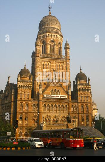 Bombay Municipal Corporation office building Mumbai India - Stock Image