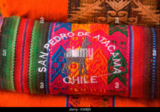 Chile San Pedro de Atacama shopping crafts - Stock Image