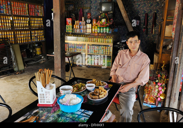 cheap restaurant of Bao Lac,Cao Bang province,northern Vietnam,southeast asia - Stock Image