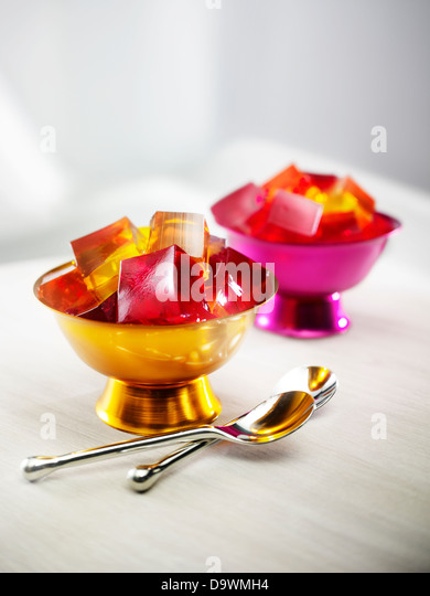 Jello cups - Stock Image