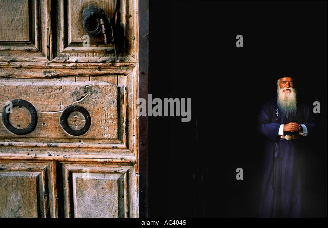 Israel, Jerusalem, Metropol Daniel, Church of Holy Sepulchre - Stock-Bilder