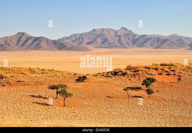 Dune landscape in the Namib brim nature reserve, Namib Desert - Stock Image
