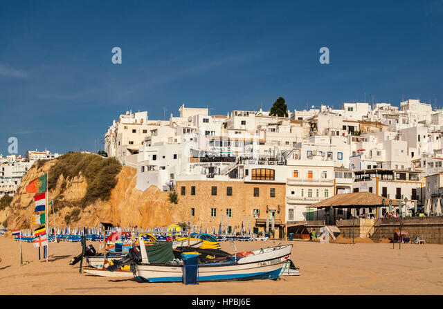 Fishermans beach Praia dos Pescadores Albufeira Algarve Portugal EU Europe - Stock Image
