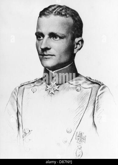 Baron Manfred Von Richthofen  Red Baron - Stock Image