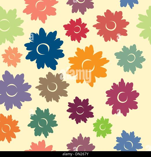 Floral Seamless Pattern - Stock Image