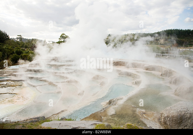 Wairakei terraces - Stock Image