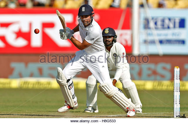 Cricket - India v England - First Test cricket match - Saurashtra Cricket Association Stadium, Rajkot, India - 12/11/16. - Stock-Bilder