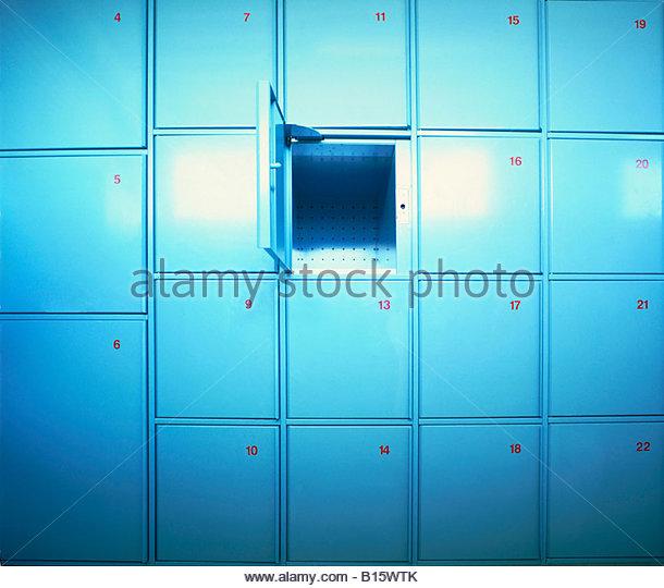 Rows of lockers - Stock Image