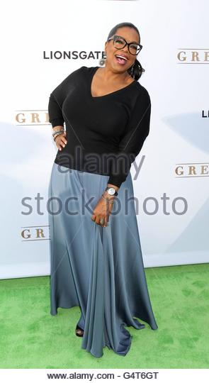epa05368506 US actress and media proprietor Oprah Winfrey arrives for the premiere of OWN: Oprah Winfrey Network's - Stock Image