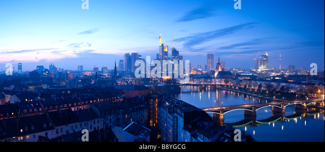 City Skyline Frankfurt Am Main Hessen Germany - Stock-Bilder