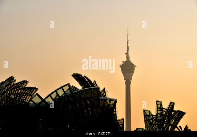 Panoramic Tower, Macau, China - Stock Image