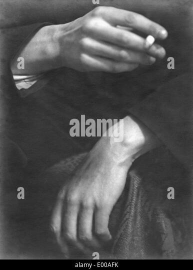Hands  of an aristocrat - Stock Image
