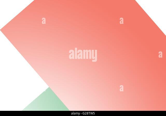 Digitally generated image of geometric shapes - Stock Image