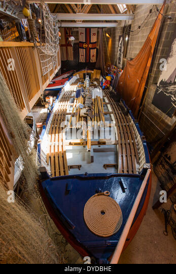 Lifeboat JC Madge in RNLI  museum at Sheringham. - Stock Image