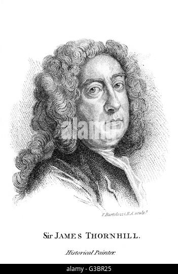 SIR JAMES THORNHILL painter, especially of  historical subjects        Date: 1675 - 1734 - Stock Image