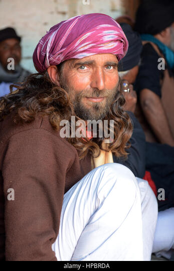 Portrait of a Jesus Christ look alike. - Stock Image