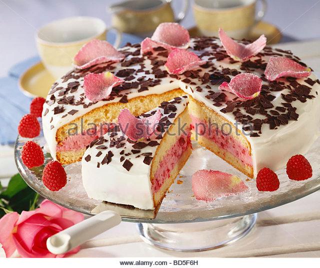 Cake Decoration Sugared Violets And Rose Petals