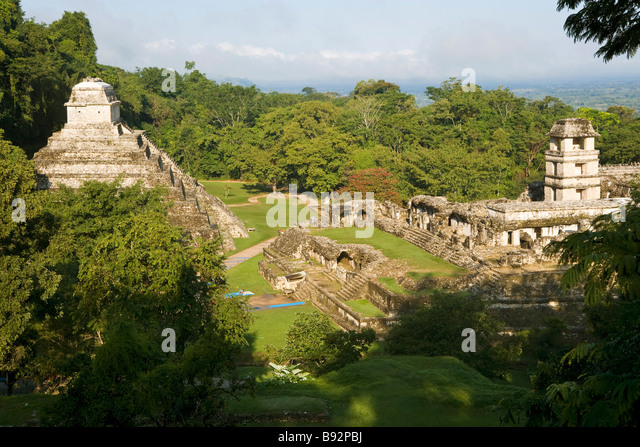 Palenque ancient site - Stock Image