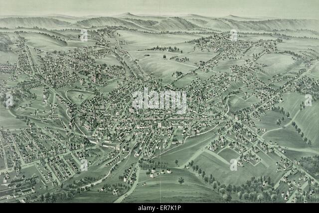 Uniontown, Pennsylvania, 1897. Date c1897 Nov. 22. - Stock Image