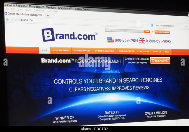 Screenshot of the brand.com homepage - Stock Image