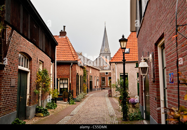 The Netherlands, Bredevoort, Centre of historical village. - Stock Image