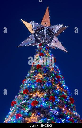 Worlds largest Solar powered Christmas tree Brisbane Australia - Stock Image