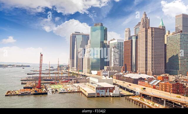 New York City waterfront, USA. - Stock Image
