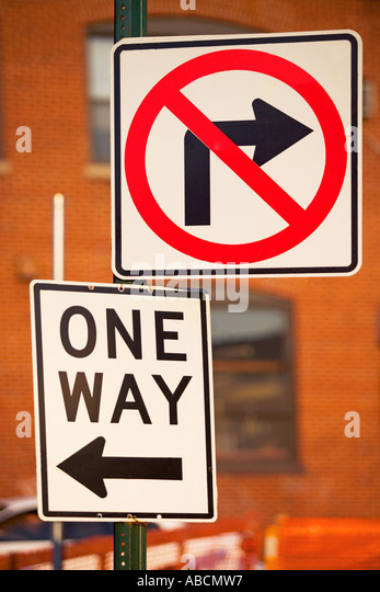 Road signs in new york - Stock Image