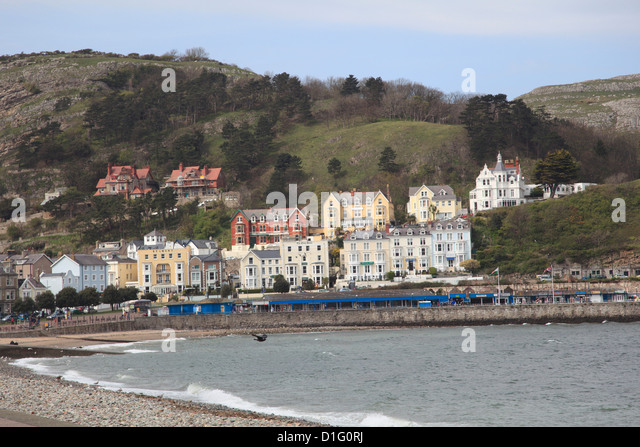 Seaside, Llandudno, Conwy County, North Wales, Wales, United Kingdom, Europe - Stock Image