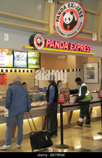 Virginia Arlington Ronald Reagan Washington National Airport DCA terminal concession business fast food Panda Express - Stock Image