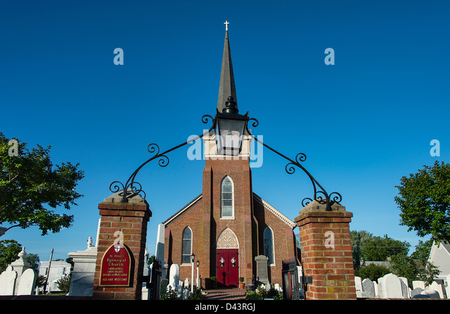 Historic St Peter's Episcopal Church, Lewes, Delaware, USA - Stock Image
