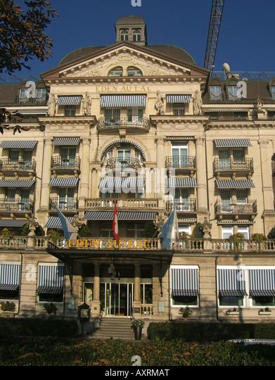 Switzerland Zuerich Hotel Eden au Lac near Zurich lake promande - Stock Image